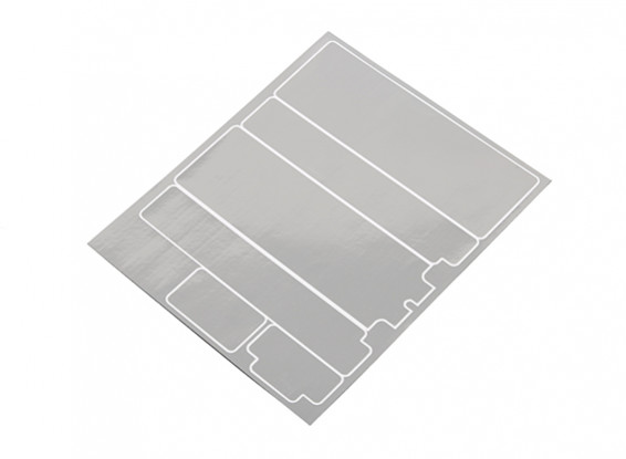 TrackStar Decorative Battery Cover Panels for Standard 2S Hardcase Chrome Color (1 Pc)