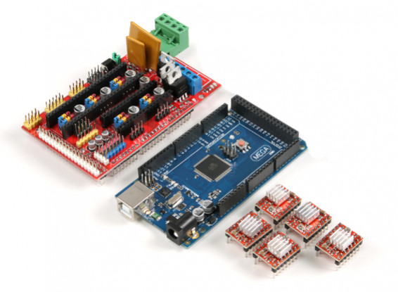 3D Printer Control Board Kit 2560 R3 master control plus RAMPS 1.4 plus4988 drive (with cooling fin)