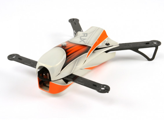 RJX CAOS 330 FPV Racing Quadcopter Airframe Only (Orange)