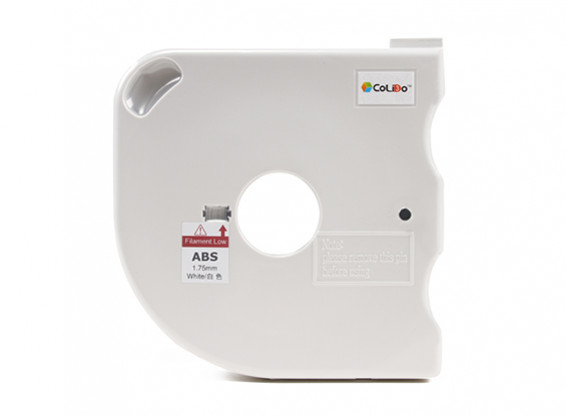 CoLiDo 3D Printer Filament 1.75mm ABS 500g Spool w/Cartridge (White)