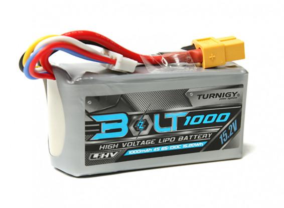 Turnigy Bolt 1000mAh 4S 15.2V 65~130C High Voltage Lipoly Pack (LiHV)