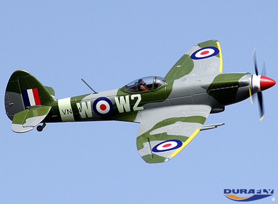 Durafly™ Mk-24 Spitfire with Retracts/Flaps/Nav Lights w/40A ESC (PNF)