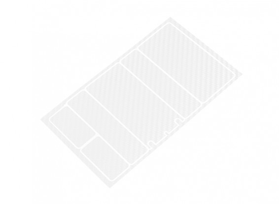 TrackStar Decorative Battery Cover Panels for 2S Shorty Pack Transparency Carbon Pattern (1 pc)