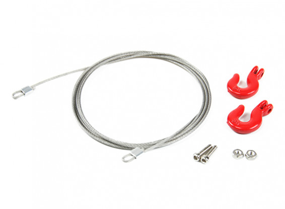 1/10 Scale RC Alloy Rope Chain and Hooks for Rock Crawler