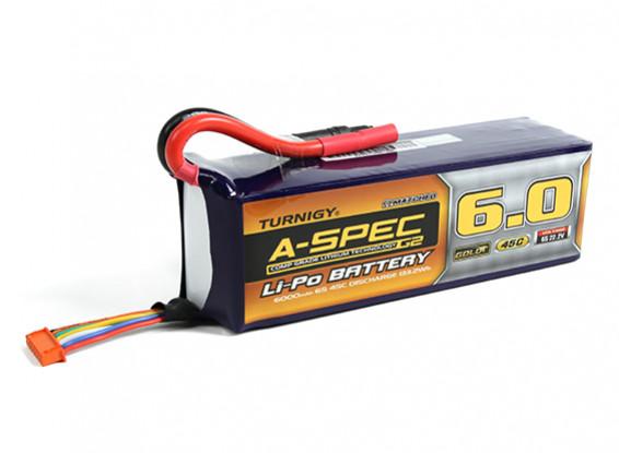 Turnigy nano-tech A-SPEC G2 6000mah 6S 45C Lipo Pack