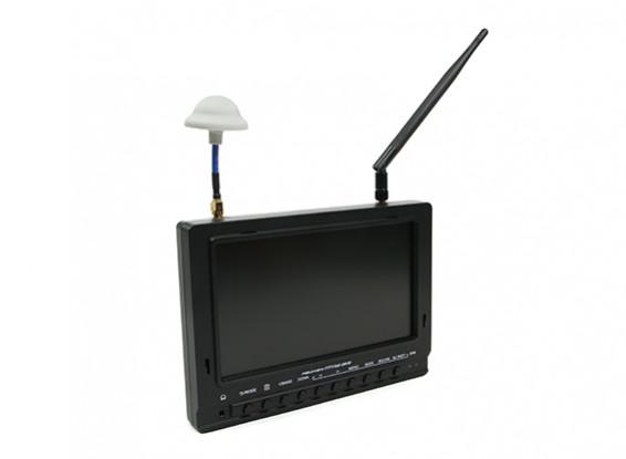 7 inch 800 x 480 40CH Diversity Receiver Sun Readable FPV Monitor w/DVR Fieldview 777SB (EU Plug)