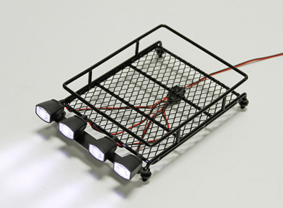 1/10 Roof Rack (Black) with Oval Spotlights