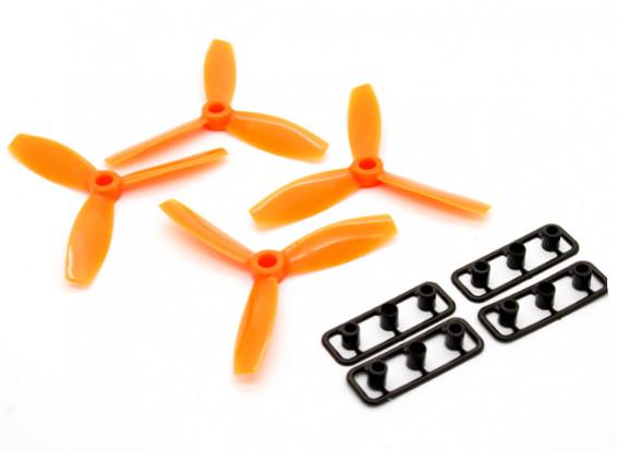 Rotorx Bull Nose 3-Blade Plastic Propeller RX3040T Orange (CW 2pcs) (CCW 2pcs)