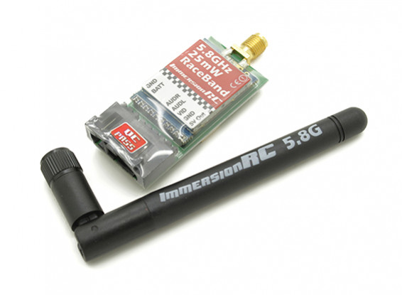 ImmersionRC Race Band 25mW 5.8GHz A/V Transmitter