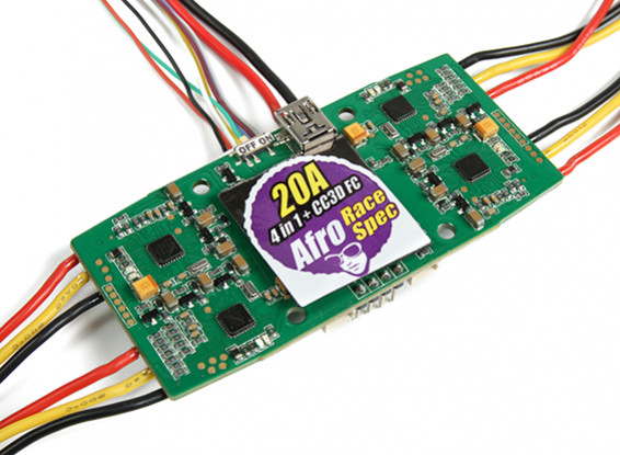 Afro 20A Race Spec 4-in-1 ESC and CC3D Flight Controller