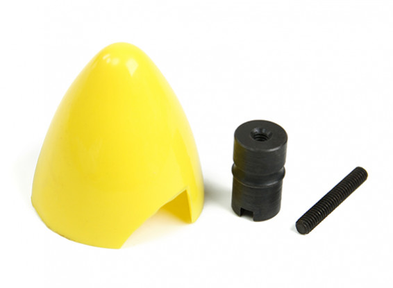 Cox .049/.051 Plastic Spinner and Engine Hub (Yellow)