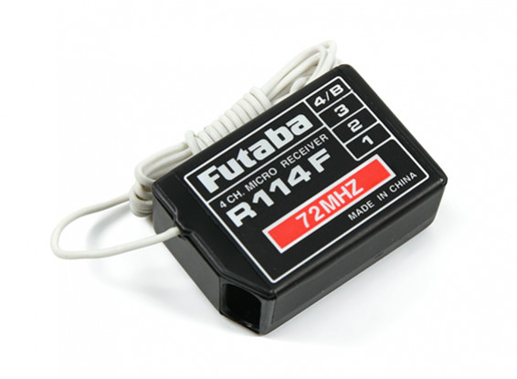 Futaba R114F FM 72MHz 4 Channel High Receiver Without Crystal