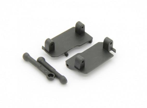 Servo Saver Mount, Servo Saver Tie Rod (2pcs) - Basher RockSta 1/24 4WS Mini Rock Crawler