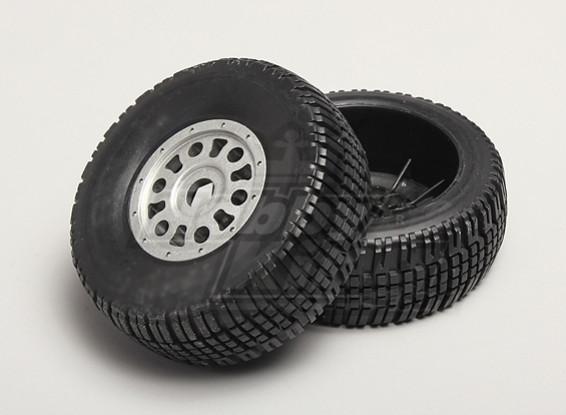 1/8 SCT Tire/Wheel 17mm Hex