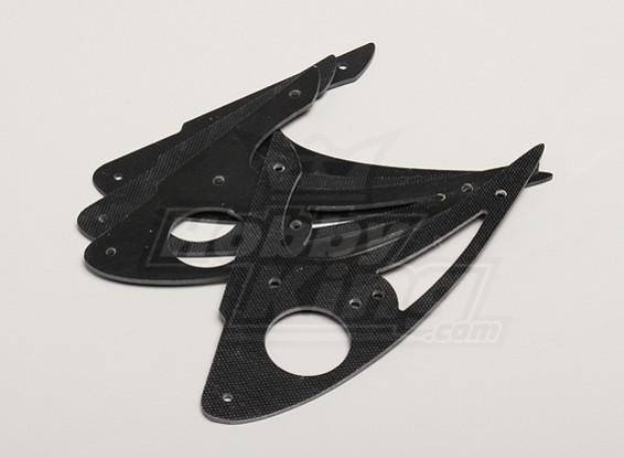 Hobbyking X525 Glass Fiber Landing Gear (4pcs/bag)