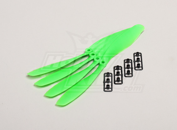 GWS Style Slowfly Propeller 8x4.5 Green (4pcs)