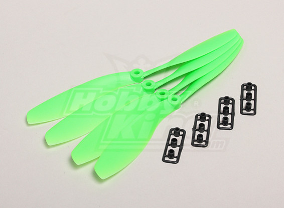 GWS Style Slowfly Propeller 8x4.5 Pusher Green (4pcs)