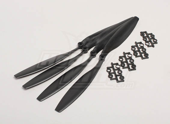 GWS Style 12 x 4.5 Slowfly Propeller Black (4pcs)