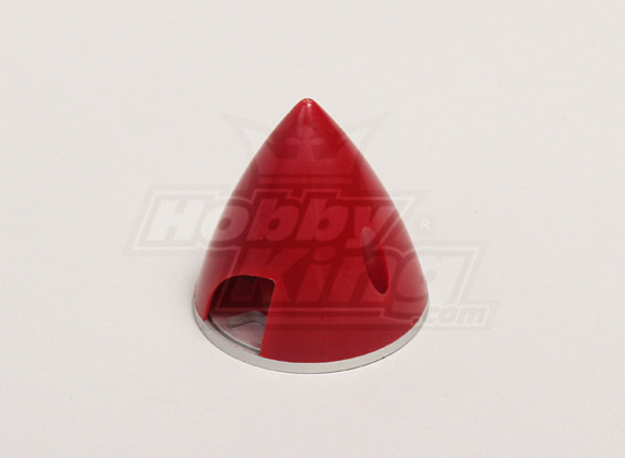 Nylon Spinner with Alloy Backplate 51mm Red