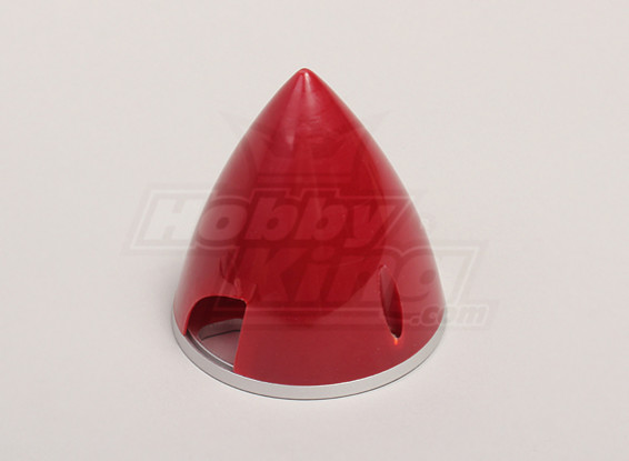 Nylon Spinner with Alloy Backplate 70mm Red
