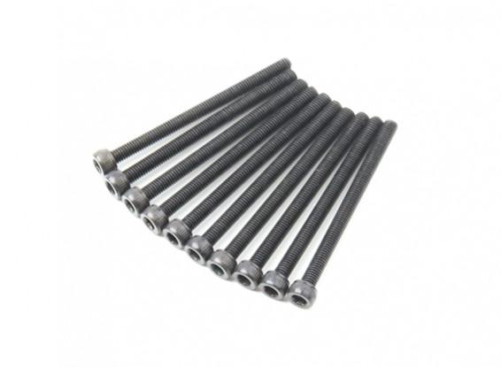Screw Socket Head Hex M3x40mm Machine Thread Steel Black (10pcs)
