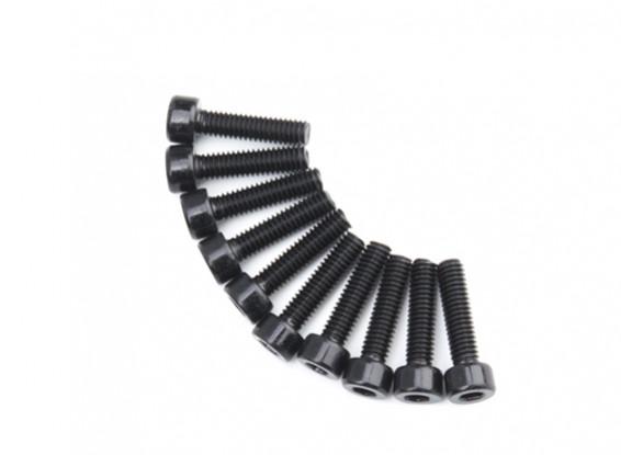 Screw Socket Head Hex M4 x 16mm Machine Steel Black (10pcs)