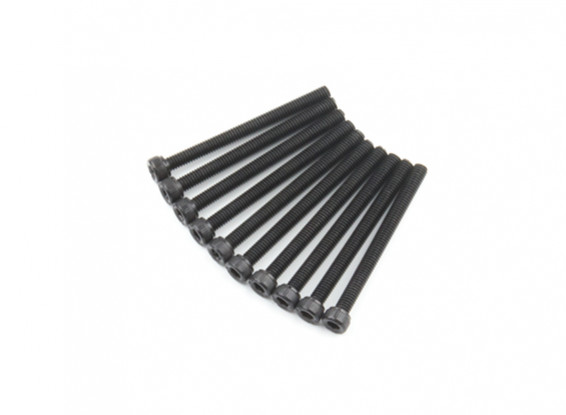 Screw Socket Head Hex M4 x 45mm Machine Steel Black (10pcs)