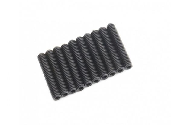 Screw Grub Hex M4 x 22mm Machine Steel Black (10pcs)