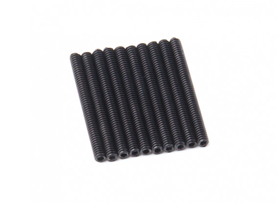 Screw Grub Hex M2 X 20mm Machine Steel Black (10pcs)