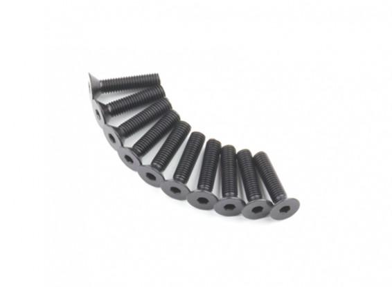 Screw Countersunk Hex M5 x 22mm Machine Steel Black (10pcs)
