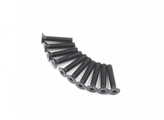 Screw Countersunk Hex M5 x 26mm Machine Steel Black (10pcs)