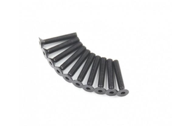 Screw Countersunk Hex M5 x 30mm Machine Steel Black (10pcs)