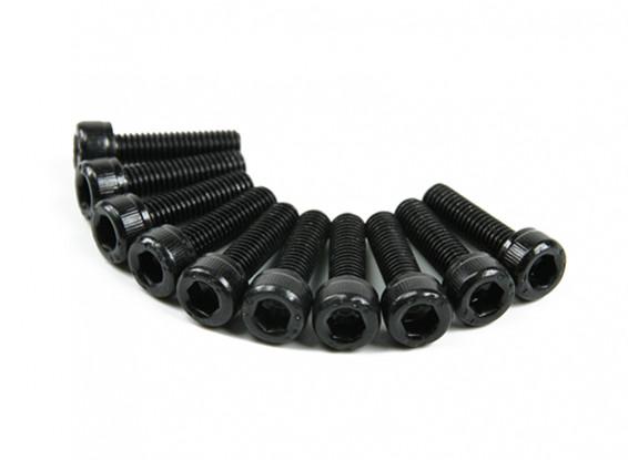 Screw Socket Head Hex M5 x 18mm Machine Steel Black (10pcs)