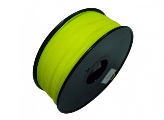 HobbyKing 3D Printer Filament 1.75mm HIPS 1KG Spool (Solid Yellow)