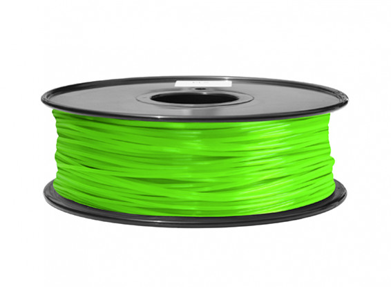 HobbyKing 3D Printer Filament 1.75mm ABS 1KG Spool (Solid Green)