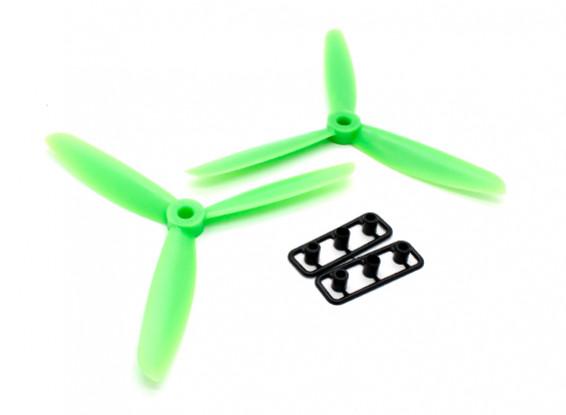 GemFan 5045 ABS 3-Blade Propellers CW/CCW Set Green (1 Pair)