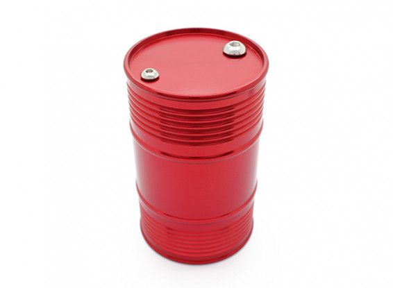 Red Anodised CNC Metal Anodised Fuel Drum for 1/10 Crawler / Truck/ Pickup