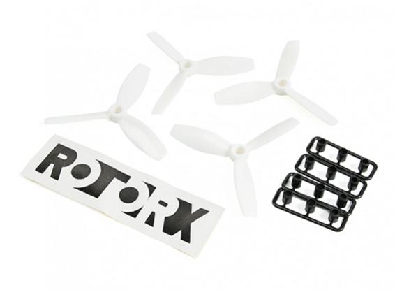 RotorX Bull Nose 3-Blade Plastic Propeller RX3040T White (CW 2pcs) (CCW 2pcs)