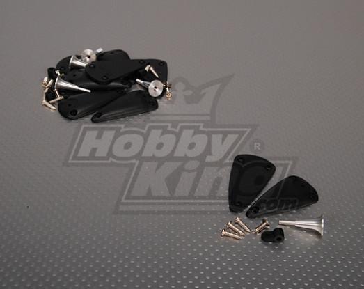Alloy Adjustable Horn With Base 2.8x24mm (5sets/bag)