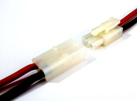 Tamiya style connector Male/Female 10cm