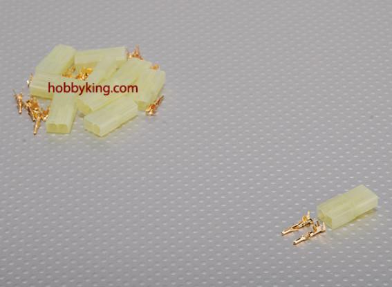 Mini Tamiya Female Gold Connector (10pcs/set)