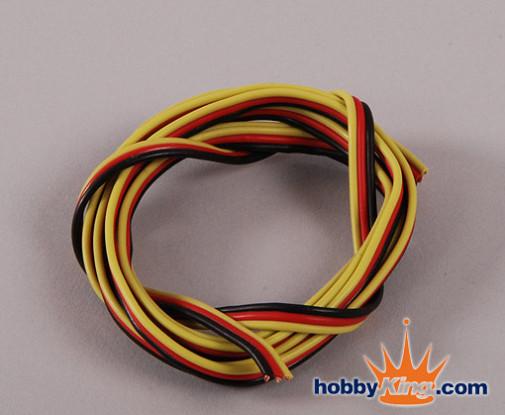 Flat 22AWG servo wire 1mtr (R/B/Y)
