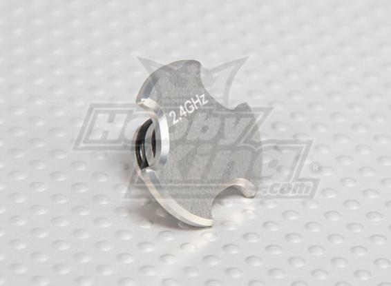 CNC Antenna Hole Cap V2 Ti Silver