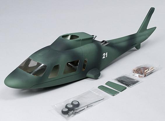 Agusta A-109 Army Fiber Glass Fuselage, Retract Ready.