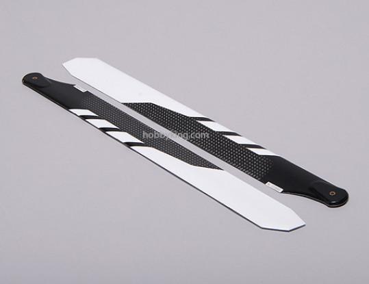 325mm Carbon Fiber Main Blade White (1pair)