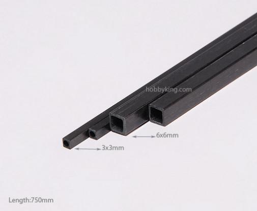 Carbon Fiber Square Tube 750x3mm