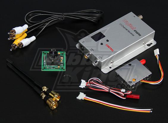 900MHZ 100mW Tx/Rx & 1/3-inch CCD Camera PAL 520TVL