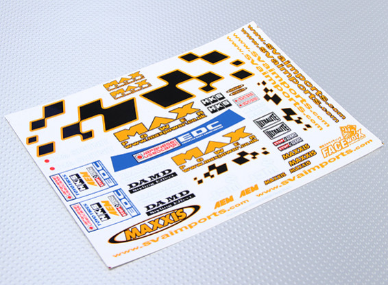 Self Adhesive Decal Sheet - M Power 1/10 Scale