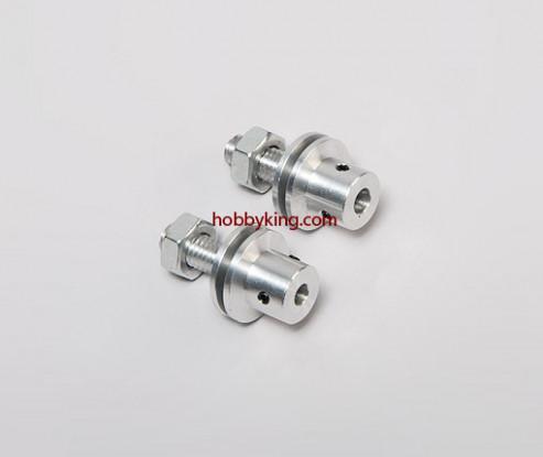 Prop adapter w/ Steel Nut M8x5mm shaft (Grub Screw Type)