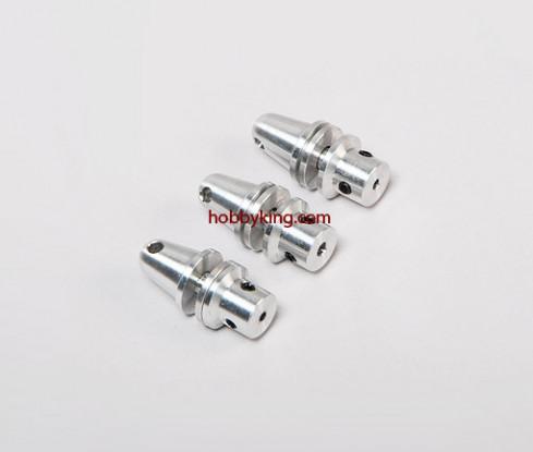Prop adapter w/ Alu Cone 3/16x32-2.3mm shaft (Grub Screw Type)